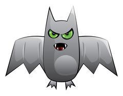 Halloween bat - stock illustration