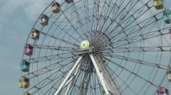 Ferris wheel, Taipei Children's Amusement Park Stock Footage