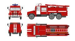 Fire engine car - stock illustration