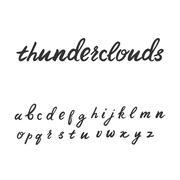 Cute hand written font in lowercase Stock Illustration
