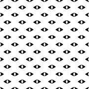 Black and white seamless pattern with evil eyes Stock Illustration