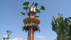 Stock Video Footage of Drop Tower, Free fall in Taipei Children's Amusement Park