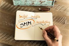 Stock Photo of Business Acronym SMM as SOCIAL MEDIA MARKETING