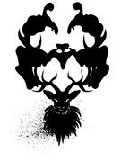 Mysterious Stag - stock illustration