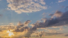 Sunset Clouds In Motion 11 4K - stock footage