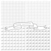 Set of four white tiles seamless patterns Stock Illustration