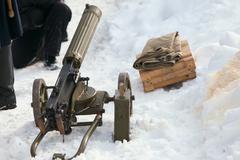 Old vintage machine gun Stock Photos