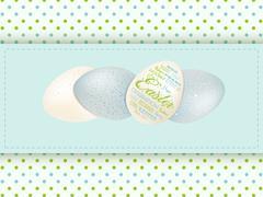 Easter egg panel background Stock Illustration