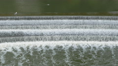 Weir in the river Avon in Bath, Somerset, England. - stock footage