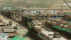 Panorama of a Huge Construction Site Shenzhen Guangdong Stock Footage