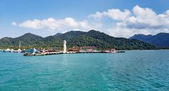 Stock Photo of Lighthouse on a Bang Bao pier on Koh Chang Island in Thailand