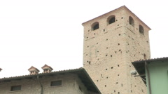 The Malaspina Castle tower Stock Footage
