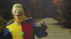 horror clown spooky creepy - stock footage