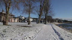 Scottish Riverside in Winter Snow - HD 1080 Stock Footage