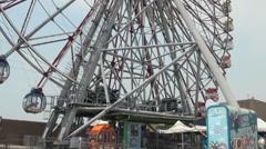 Ferris wheel in Eda Theme Park, Kaohsiung, Taiwan Stock Footage