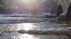 River in Winter Snow - HD 1080 Stock Footage