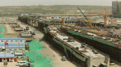View of Chinese Grand Construction Site Shenzhen Guangdong - stock footage