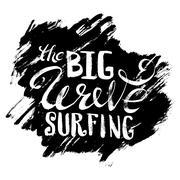 The Big Wave Surfing Stock Illustration