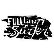 Full Time Surfer - stock illustration