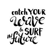 Catch Your Wave and Surf in Future - stock illustration