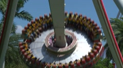 Attraction in Janfusun Fancyworld, Jian Hu Shan Theme Park in Yunlin, Taiwan - stock footage
