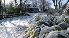 Scottish Home in Winter Snow - HD 1080 Stock Footage