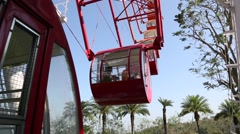 Ferris wheel cabins, Janfusun Fancyworld, Jian Hu Shan Theme Park in Taiwan Stock Footage