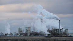 Chemical Plant on Teesside, England. Stock Footage