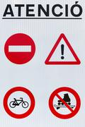 Road Attention signs Stock Photos
