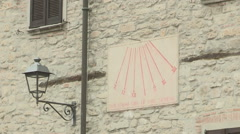 A medieval sundial in Varzi Stock Footage