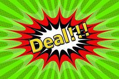 "Inscription ""Deal"" in pop art style - stock illustration"