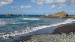 Rocks on the coast of Tenerife Stock Footage