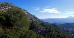 4K Aerial, Flight over an epic Andalusian landscape with wide angle view, Spa - stock footage