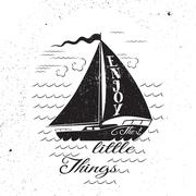 Enjoy the litttle things. Hand drawn poster. - stock illustration