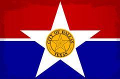 Dallas City Flag Piirros