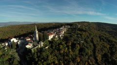 Aerial view of part of Vrbnik Town on Krk Island Stock Footage