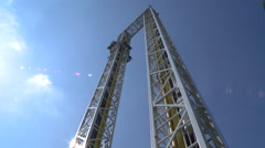 Drop tower Stock Footage