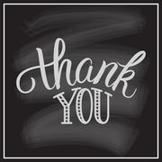 Thank You hand lettering. - stock illustration