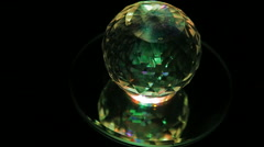 crystal ball in a dark - stock footage