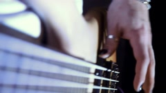 a man plays electic gitar - stock footage