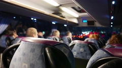 People riding in the bus Stock Footage