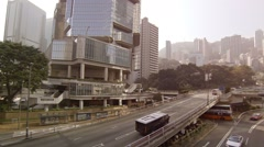Typical traffic on Hong Kong's complex highway system. FullHD video Stock Footage