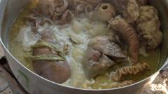 Stock Video Footage of boil pork