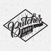 Butcher shop logotype. - stock illustration