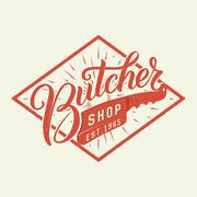 Butcher shop logotype. Stock Illustration