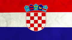Croatian flag waving in the wind (full frame footage) Stock Footage