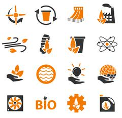 Alternative energy icons Stock Illustration