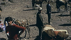 Iran 1973: amaze shippers watching the camera in the rural of the Country Stock Footage