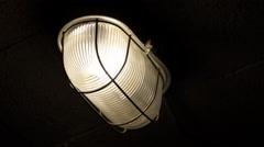 Basement light turns on - stock footage