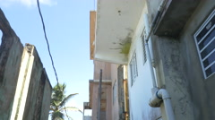 Movi going down Puerto Rico Alley - stock footage
